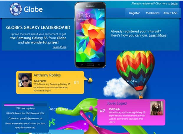 Globe Gears Up for Samsung Galaxy S5 with Interactive Online Contest