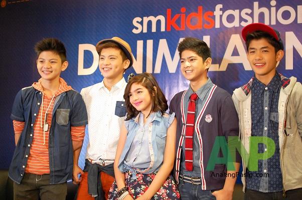 Andrea Brillantes and Gimme5 for SM Kids' Fashion Denim