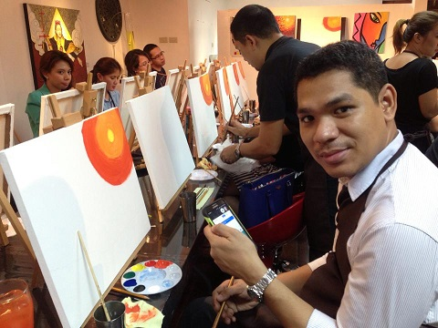 Paint N' Sip Nights at Cevio Art Haus