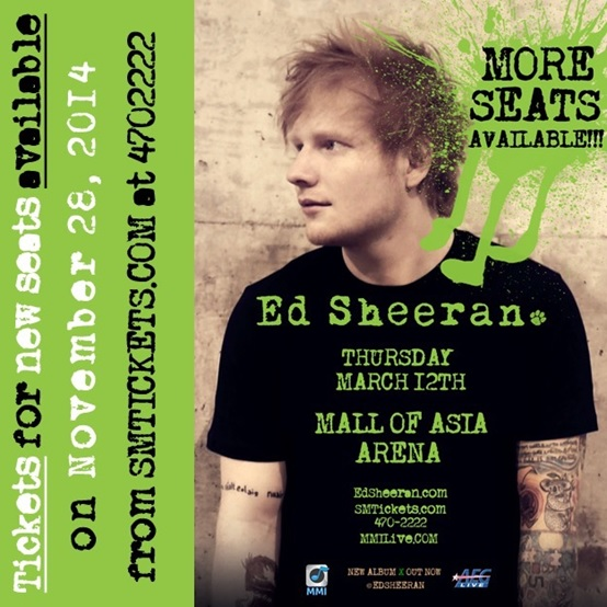 Extra Tickets Announced For Sold-out Ed Sheeran Concert in Manila