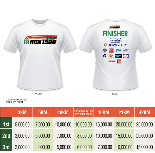 APPROVED 711 run 1k finishers shirt vr6
