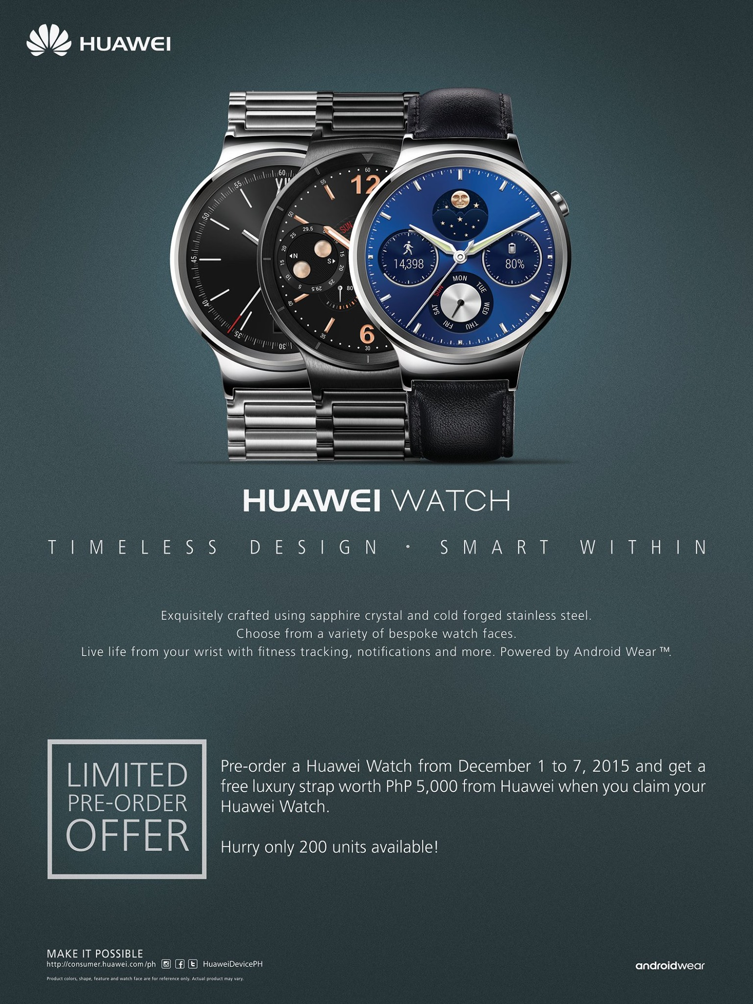 Pre-Order Your Huawei Watch Now!