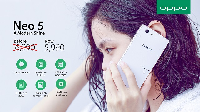 OPPO Philippines Slashes Neo 5 Price