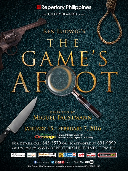 THE GAME'S AFOOT POSTER