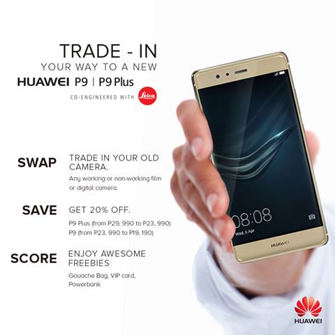 Trade-In Your Digicam or DSLR for A Huawei P9 and P9 Plus Discount