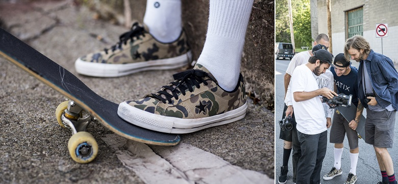 Converse Cons One Star Pro in Camouflage