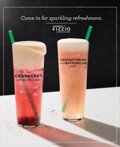 Starbucks Fizzio™ Sparkling Beverages Redefine Refreshment