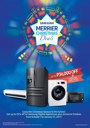 Samsung Digital Appliances Merrier Christmas Deals Promo