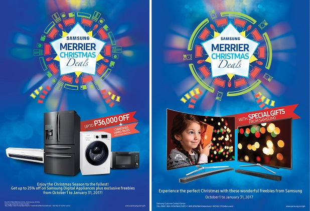 Merrier Christmas Deals Samsung TV and Digital Appliances