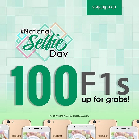 100 F1s Up For Grabs at OPPO's National Selfie Day
