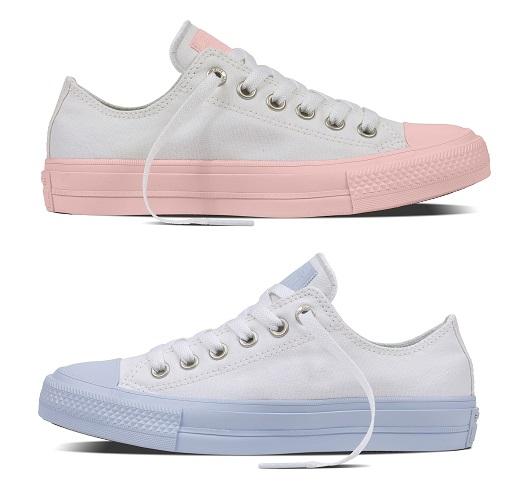 Chuck Taylor All Star II Pastel Midsole Sneakers (Women)