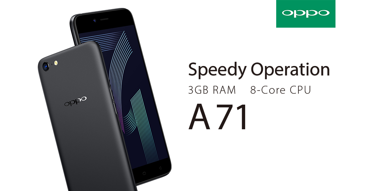 Get the OPPO A71 for only P927/month at 0% interest via Home Credit