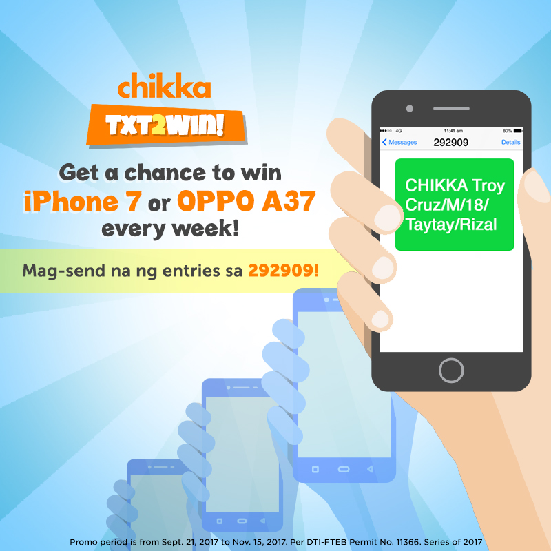 Free SMS app Chikka launches 'TXT2WIN' promo as treat to all Filipinos