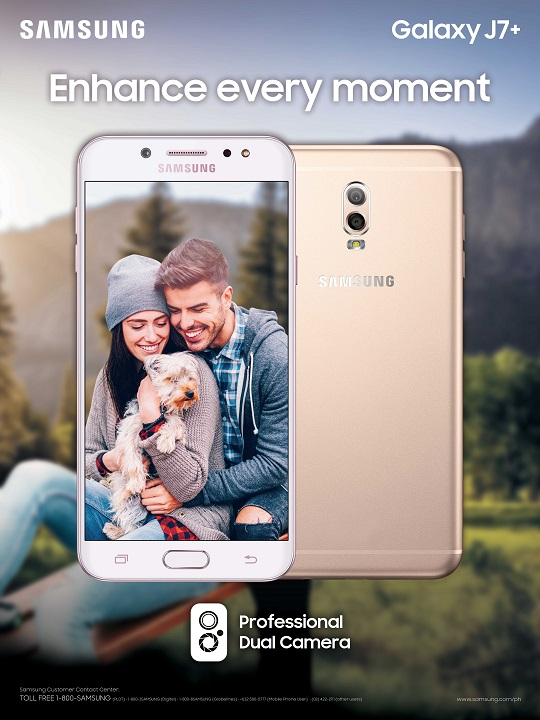 The Samsung Galaxy J7+ is Available at 0% interest with Home Credit