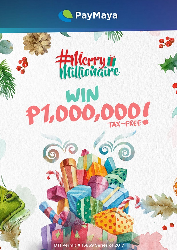Win Up to 1M Pesos in PayMaya's Merry Millionaire Promo!
