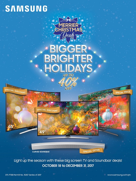 Have a Merrier Christmas with Samsung TV's Bigger and Brighter Holidays Promo