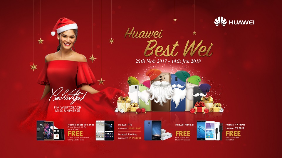 Get Discounts or Freebies at the Huawei Best Wei Christmas Offer