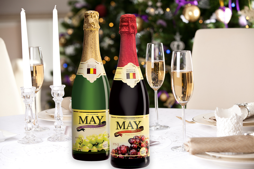 Say Yes to a Sparkling Christmas with May 100% Sparkling Grape Juice