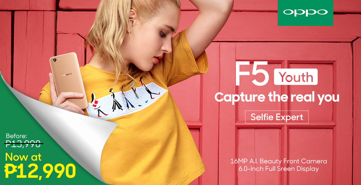 Celebrate New Beginnings with the OPPO F5 Youth Now  at Php12,990