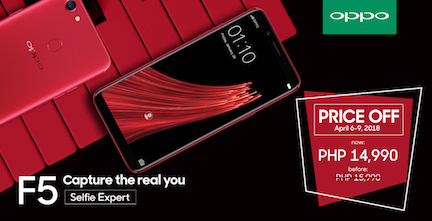 OPPO F5 Gets a P1000 Price Cut OFF