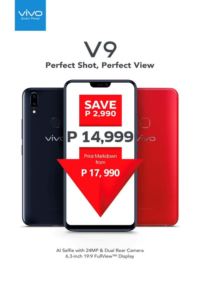 Good News! Vivo V9 Can All Be Yours for Only Php14,999