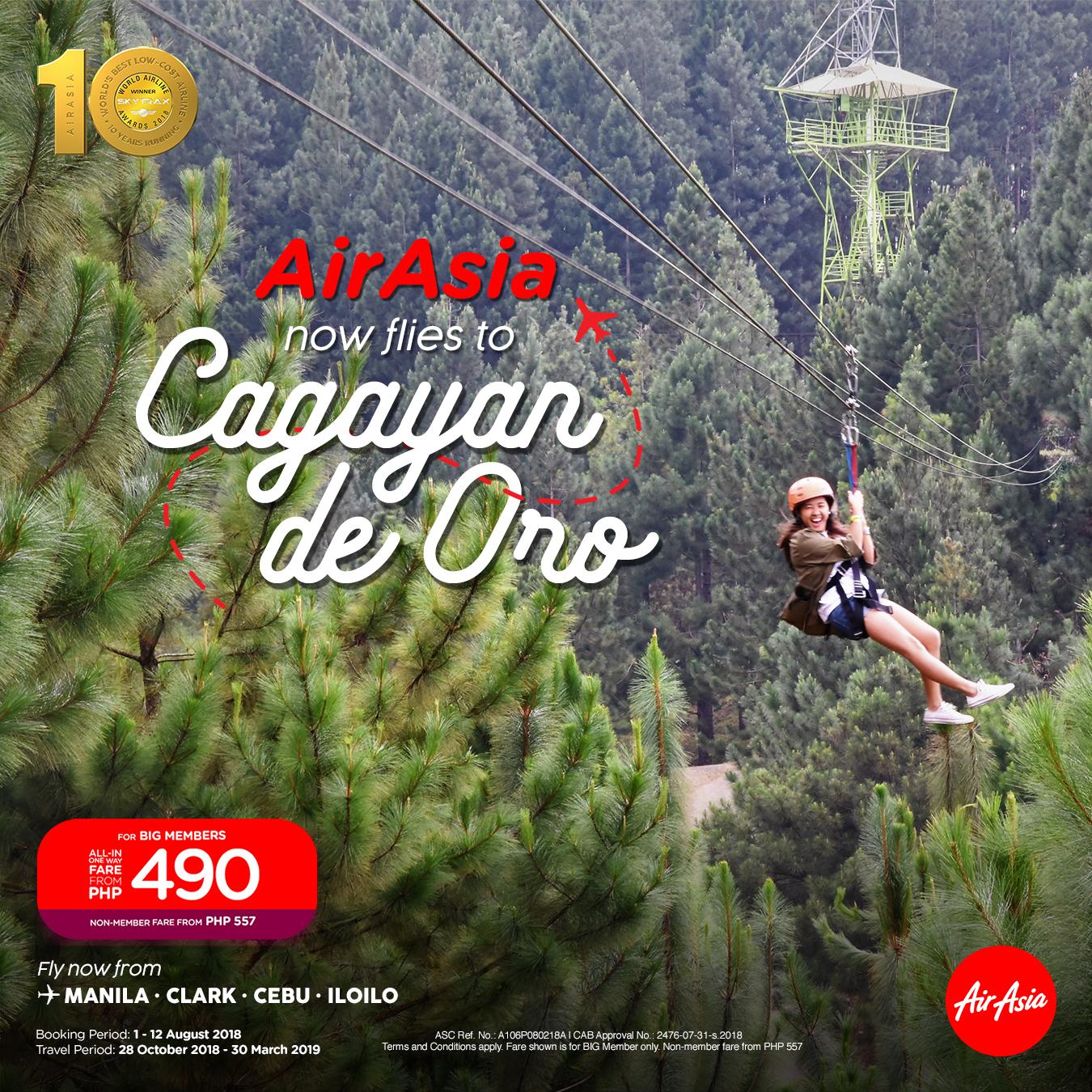 AirAsia Now Flies to Cagayan de Oro City