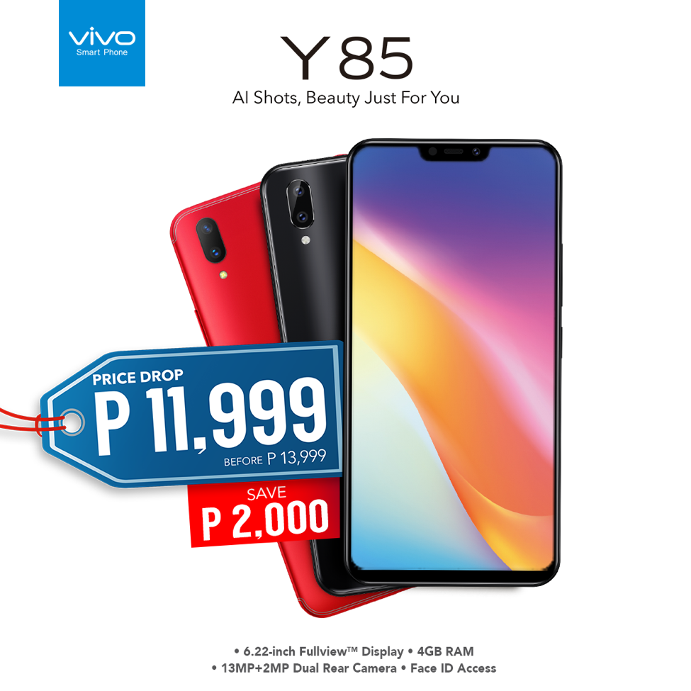 Get Your Hands on the Notched Beauty of Vivo Y85 for Php11,999