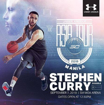 Score Tickets To Stephen Curry Asian Tour with Under Armor