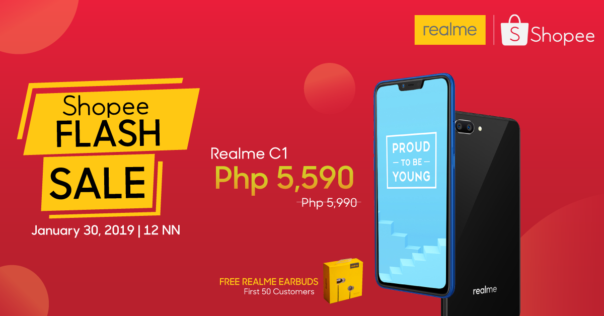 RealMe C1 Flash Sale on January 30 at Shopee Official Store