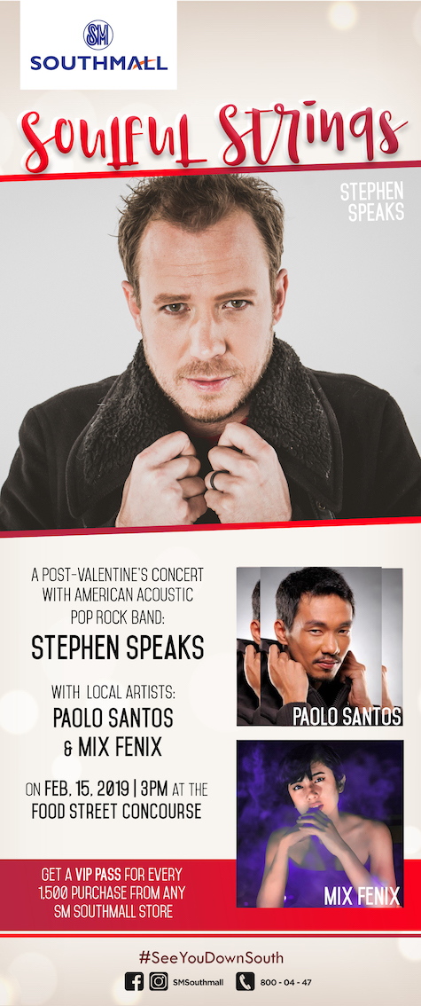Celebrate Valentine's with Stephen Speaks at SM Southmall