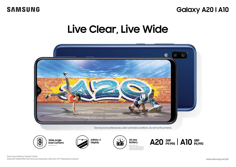 Live Clear, Live Wide: SAMSUNG Galaxy A20 and A10, Now Available!