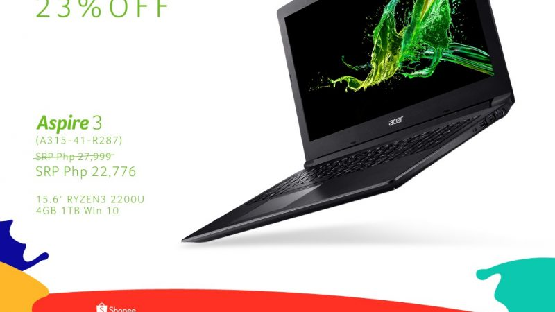 Acer Joins Shopee's 9.9 Super Shopping Day!