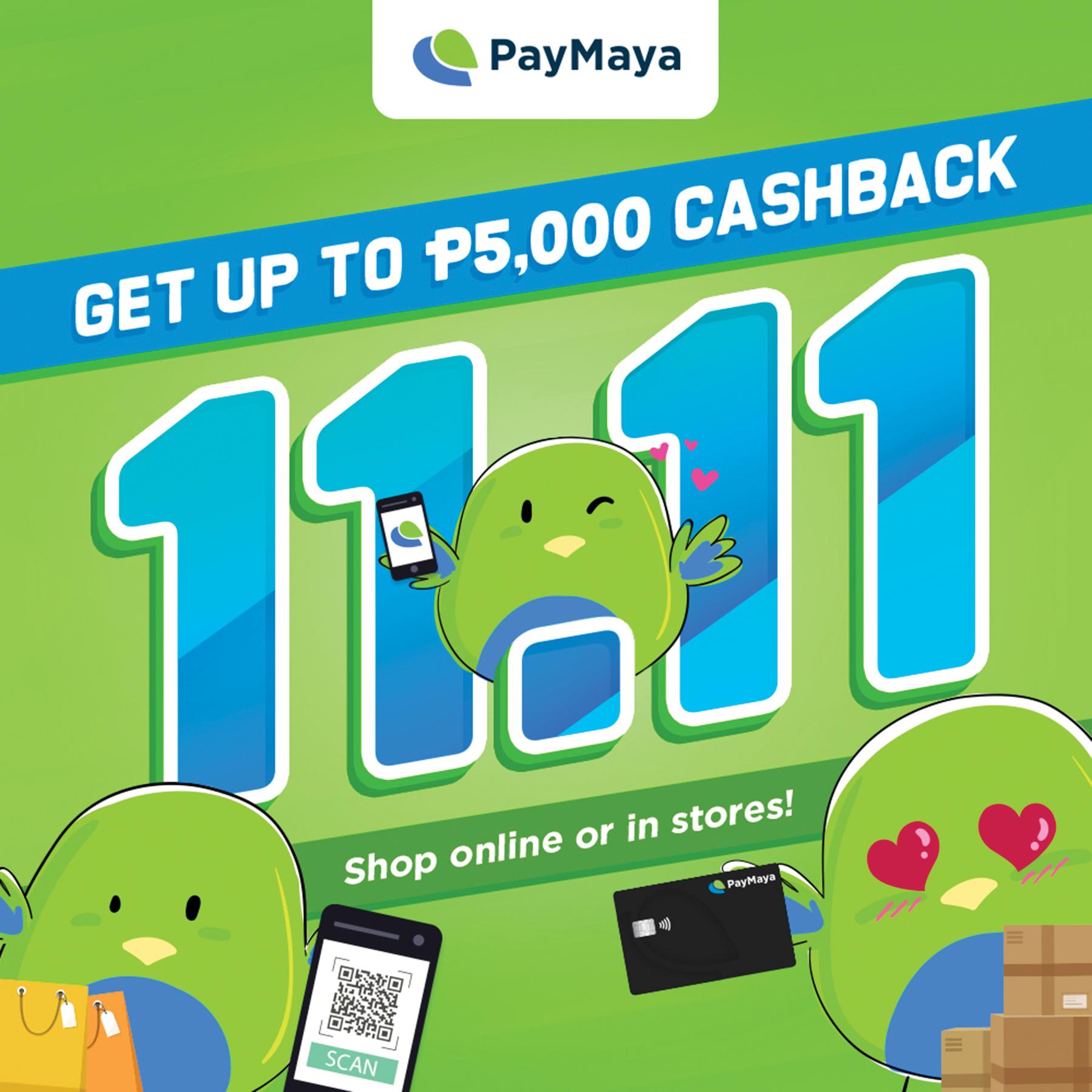 Basta Shopping This 11-11, Don't Pay Cash. PayMaya!
