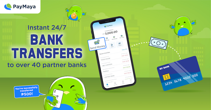 Transfer Funds To More Than 40 Banks with PayMaya