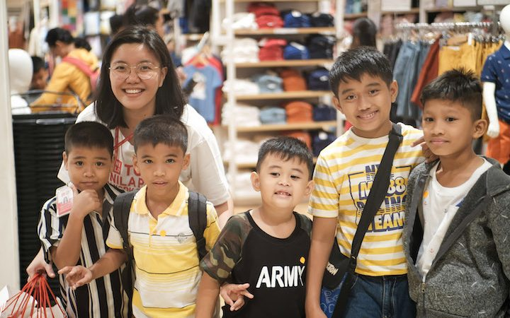 UNIQLO Gives the Gift of LifeWear to the children of Bantay Bata and SOS Children's Villages Philippines