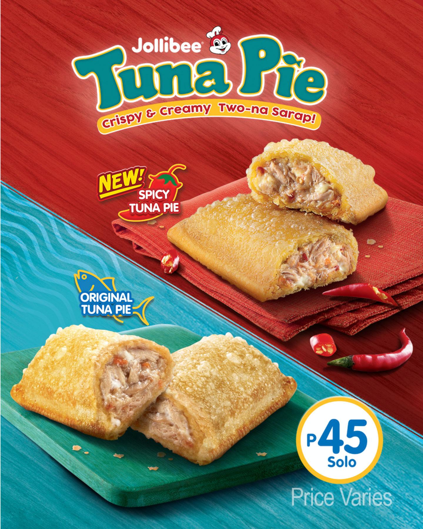 Jollibee Now has Original Tuna Pie and the new Spicy Tuna Pie!