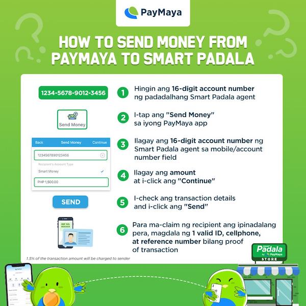 Send Money Directly to Smart Padala Thru PayMaya