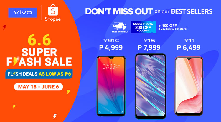 Get the Best Deals on Vivo Smartphones with Shopee and Lazada 6.6 sales