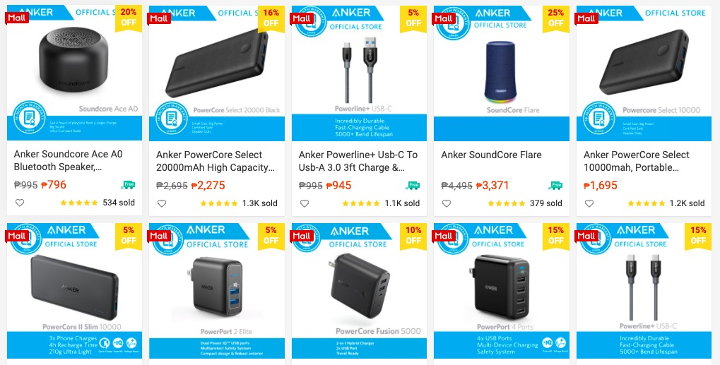 Stay Connected with Anker Powebanks at Shopeee