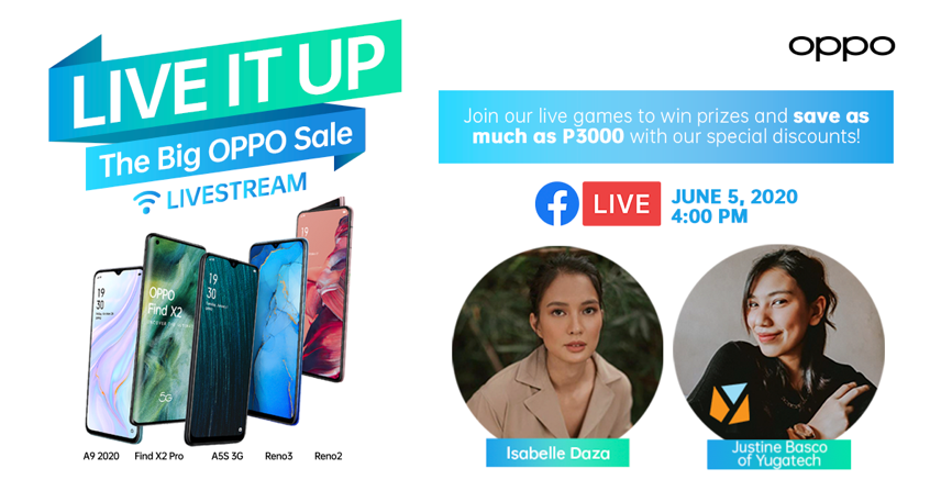 Get Special Discounts and Prizes from OPPO this June 5
