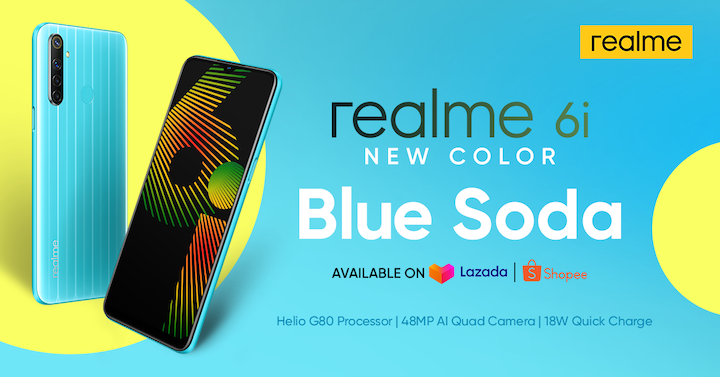 realme Philippines releases realme 6i New Color Blue Soda Variant