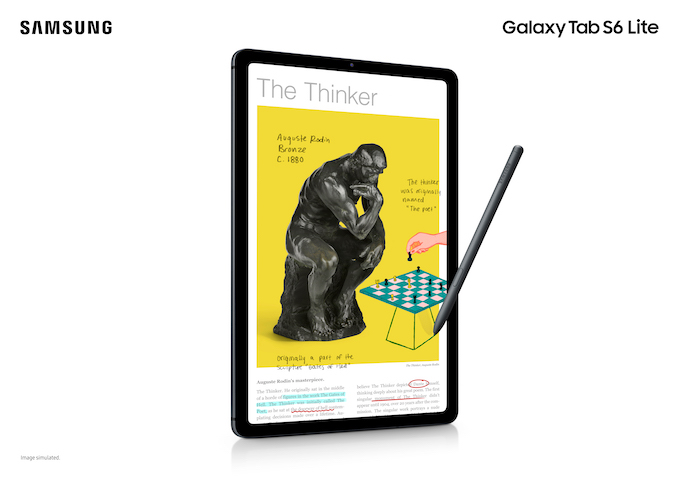 Empower New Kinds of Learning with the  SAMSUNG Galaxy Tab S6 Lite