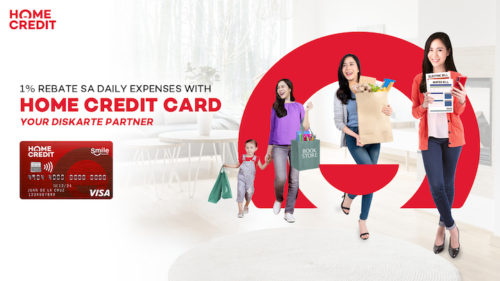 Get 1% rebate on every purchase w/ the 'madiskarteng' Home Credit Card