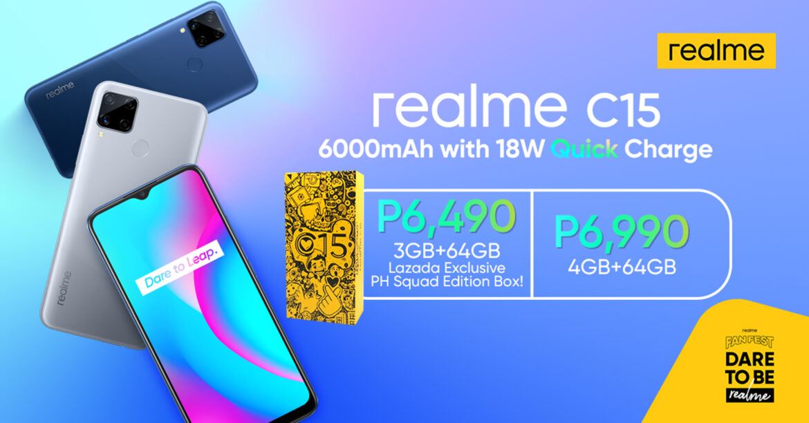 Be Unstoppable with realme C15 with 6000 mAh & 18W Quick Charge