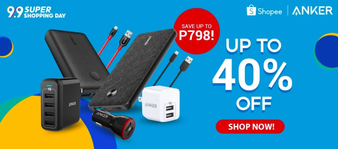 Get up to 40% off on Anker Products on Shopee Super Shopping Day