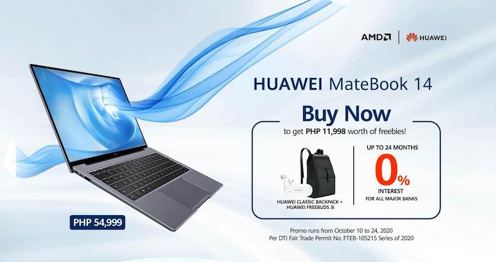 Get freebies worth PHP 11,998 with the HUAWEI Matebook 14
