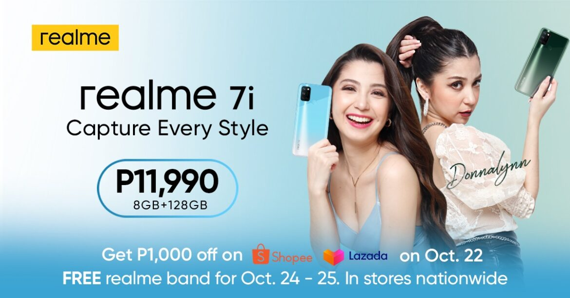 realme PH elevates style with Donnalynn Bartolome using the realme 7i