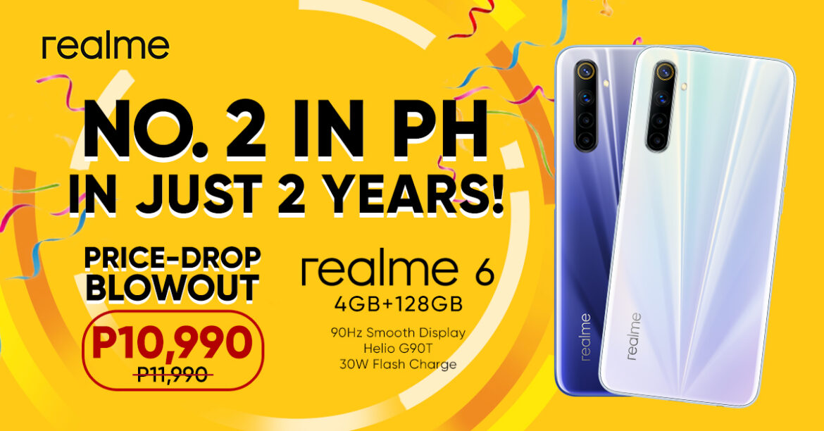 realme is Now The Top 2 Smartphone Brand in PH