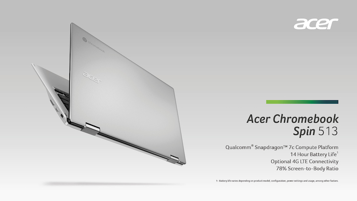 Acer's First Chromebook, The Acer Chromebook Enterprise Spin 513