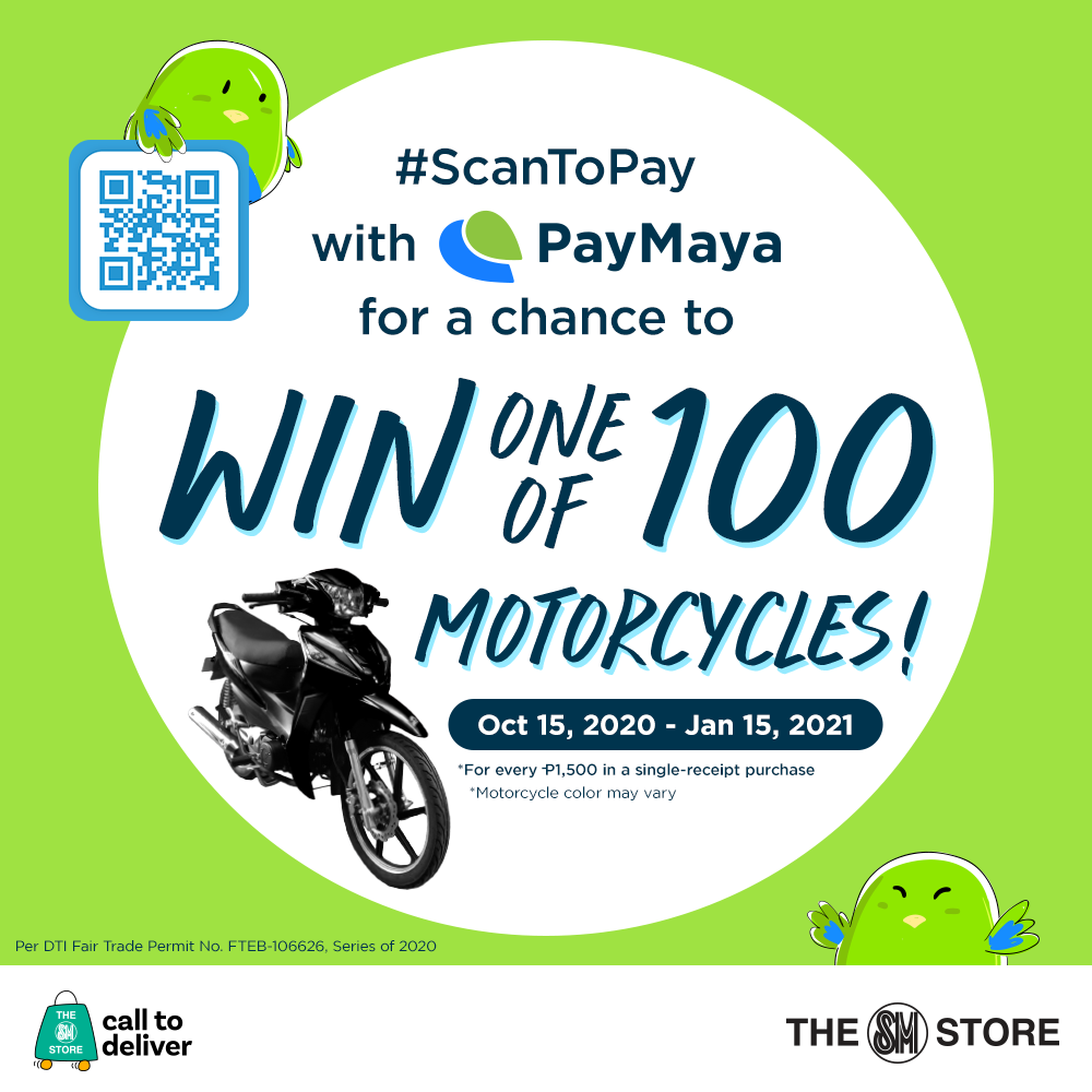 Win When You #ScanToPay with PayMaya QR at The SM Store!